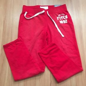 Abercrombie & Fitch Red Sweatpants